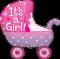 "It´s A Girl Stroller 35"" - € 12,90"