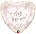 """Heart Just Married & Roses 18"""" - € 5,90"""