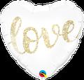 "Love Glitter Gold 18"" - € 5,90"