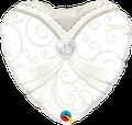 "Wedding Gown Heart 18"" - € 5,90"
