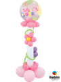 Deko To Go: Welcome Baby Girl & Flowers Coloum - € 29,90