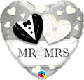 "Mr & Mrs Wedding Heart 18"" - € 5,90"