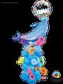 Deko To Go: Blue Dolphin Coloum & Swirls - Preis auf Anfrage