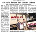 Auszeichnung bei Weilke in Greven