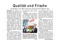 Qualität und Service im HIT Markt