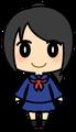 女子学生(セーラー服・黒髪)