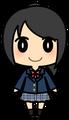 女子学生(ブレザー・黒髪)
