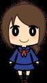 女子学生(セーラー服・茶髪)