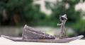 Pêcheur Birman II, bronze, 21x60,5x9,5