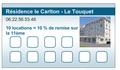carte de fidélité - location saisonnière (verso).
