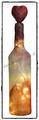 Deko-Flasche in rosa beleuchtet