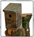 Brutkasten für Vögel mit Kunst