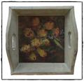 Shabby Chic Tablett mit Blumen