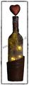 Deko-Flasche mit Baumrinde beleuchtet