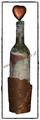 Deko-Flasche mit Baumrinde