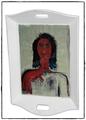 Tablett mit Portrait