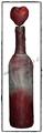 Deko-Flasche in rosa