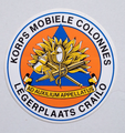 Sticker Korps mobiele Colonnes (legerplaats Crailo)
