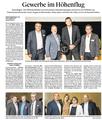 Thurgauer Zeitung Mai 2017: Redner Marc Hauser am Unternehmerabend der GEWA Dreispitz Kreuzlingen