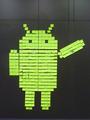 CeBIT 2012   Post-it-Android grüsst IBM-Besucher.