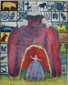 Schutzheilige / 2005 / Tempera auf Leinwand / 200 x 160 cm