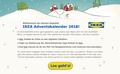 IKEA Adventskalender-App 2018 - Begrüßungs-Screen: Grafik- und UI-Design unter Verwendung bestehender Illustrationen; © IKEA / Oetinger Corporate
