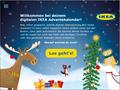 IKEA Adventskalender-App 2017 - Begrüßungs-Screen: Grafik- und UI-Design unter Verwendung bestehender Illustrationen; © IKEA / Oetinger Corporate