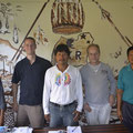zu Besuch bei der sehr kämpferischen Kichwa Kooperative Sacha Kuri in Rukullakta