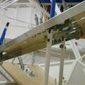 Kulissen für Landeklappe und Pedalverstellung
