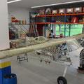 Flügel und Flaperons montiert
