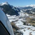 Direktanflug aus Schönried auf Piste 26 Saanen LSGK