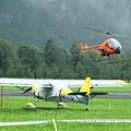 CH-7 Heli trotzt dem Regenwetter (Foto GC)