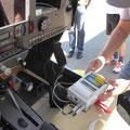 Geeichte Aufzeichnungsgeräte für Drehzahl und Temp