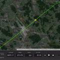 Auf dem Weg nach Grenchen durchquere ich mit HB-UGM die CTR Zürich