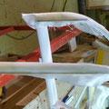 Höhenruder Foam Abschluss mit Glasgewebe überzogen