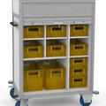 52 Fahrverteiler BTH 1060x600x1466 mm, mit Rollo und großem Paketfach