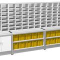 S62 ähnlich wie S61, jedoch mit zusätzlichem Sortierelement, alle Poststelleneinrichtungen sind jederzeit erweiterbar und anpassbar