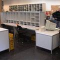 TS16 Sortieraufbau am Sortier-Sitzarbeitsplatz