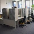 TS4 Sortierarbeitsplatz mit Sortierregalen an 3 Seiten