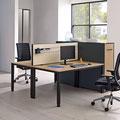 12 Tischaufsatz mit Organisationsnut am Doppelearbeitsplatz