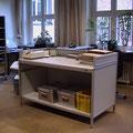 TAK11 Schütttisch mit 3-seitiger Aufkantung, andere Perspektive vom Bild 10