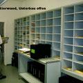 S5 Sortierregale ohne Unterschrank, dafür Ablagetisch - auch rollbar möglich, alternativ Auszugplatten als Ablage/Sortierfläche