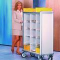 FVTF1 Fahrverteiler F, obere Ablage mit Aufkantung zum sicheren Transport von Postkisten