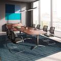 25 Konferenztisch mit Palmega-Kufe (Fußausleger verstellbar)