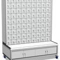SF16 Schließfachanlage auf Rollen mit kleineren Fächern für Handys