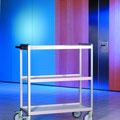 TFM15 Beistellwagen mit 3 Ebenen, leicht und wendig, Gestell aus Aluminiumprofilen, BTH 1035x467x1150 mm