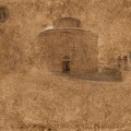 """Story # 16 from series """"Italien dust"""", author's technology, 50x33,4 cm, 2014 Italy"""