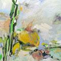 """Blumen I""  Acryl auf Leinwand  70 x 120 cm"