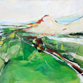 """Landschaft""  70x100 cm  Acryl auf Leinwand"