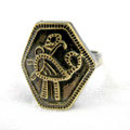 Кольцо-перстень «Птица» (точная копия) - 750 руб.  Перстень шестигранный. Раннее изображение Птицы Счастья. Успех во всех делах и добрых начинаниях. Семейное благополучие. Незамкнутый.